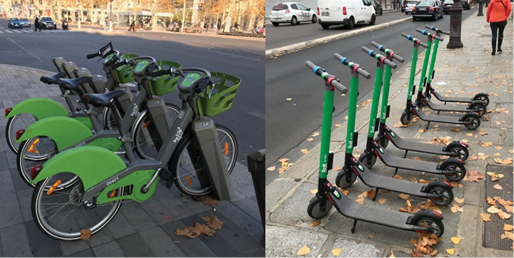 FIGURE 1. An example of two-wheel e-mobility on the streets of Paris.