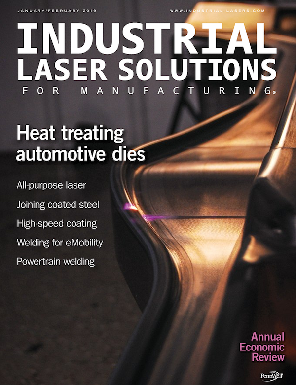Industrial Laser Solutions Volume 34, Issue 1