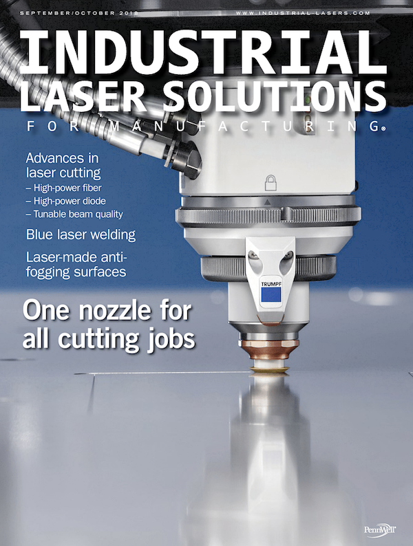Industrial Laser Solutions Volume 33, Issue 5