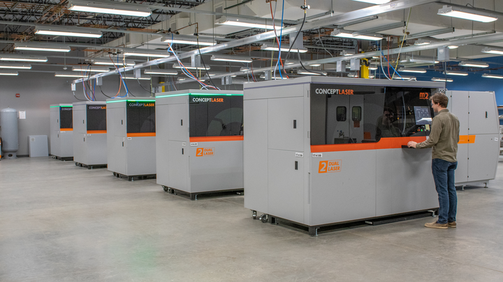 The line of laser processing systems at Form 3D Solutions.