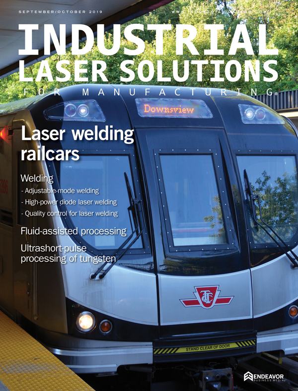 Industrial Laser Solutions Volume 34, Issue 5